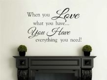 When You Love... Family Wall Art Quote Vinyl Wall Art Decal, Wall Sticker